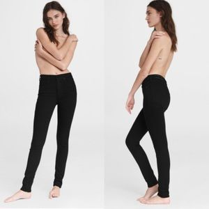 Rag & Bone High Rise Skinny Jeans Black Si…